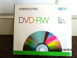 Memorex  DVD Recorder Discs  4.7GB 16X 120 minutes Recordable DVD+R,10 Pack - $9.49