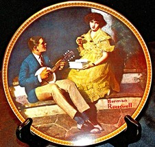 """""""Pondering on the Porch"""" by Norman Rockwell Plate with Box AA20-CP2220 Vintage"""