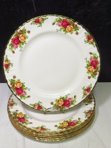 "Set of 6 ROYAL ALBERT Old Country Roses Dinner Plates BRAND NEW 10.5"" - $118.80"