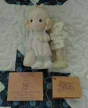 Precious Moments 1993 Figurine C0113 Loving Caring Sharing Along The Way... - $20.00