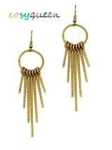 Women new gold key loops drop hook pierced earrings - ₹1,367.54 INR