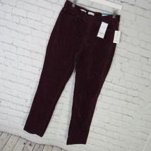 Charter Club Pantalones Mujer Talla 10 Terciopelo Burdeos Bristol Skinny... - $51.28