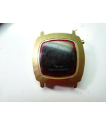 TEXAS INSTRUMENTS MODEL 403 RED LED WATCH gold color WATCH TO RESTORE or... - $87.32