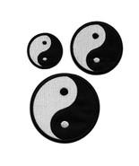 YIN YANG IRON ON PATCH 3 Sizes Black White Balance Tai Chi Embroidered A... - $4.99+