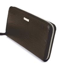 Calvin Klein Ck Leather Organizer Coin Zip Around Rfid Wallet Purse Brown 79511 image 2