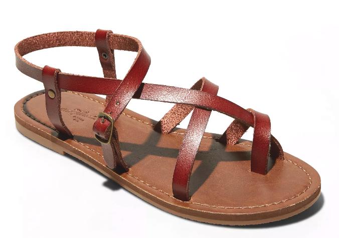 Universal Thread Women's Brown Lavinia Toe Wrap Thong Summer Sandal NEW