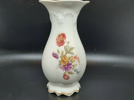 Rosenthal Classic Rose bud vase in perfect condition flowers and gilt on... - $25.00
