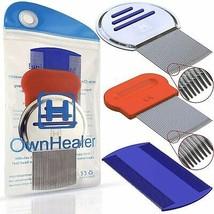 Head Lice Comb Nit and Lice Remover Dandruff Lice Eggs Removal Comb 3-Pcs - $14.99