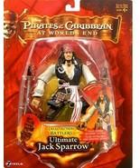 Ultimate Jack Sparrow Disney Pirates of the Caribbean Figure NIB At Worl... - $49.49