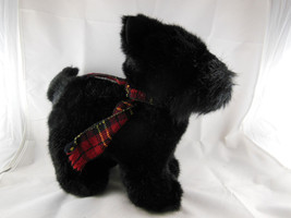 "Russ Berrie SHADOW Black Plush Scottish Terrier Scottie Dog 12"" with pla... - $11.93"