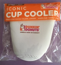 Dunkin Donuts 2018 Iconic Cup Cooler Koozie MEDIUM 24 oz. Ounce White New - $11.95