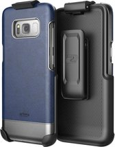 Galaxy S8 Leather Belt Clip Case w/ Holster - Artura Collection by Encas... - $19.97