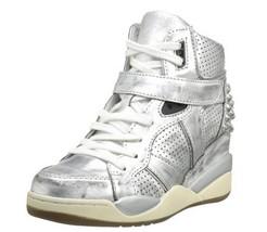Ash Women's Freak Fashion Sneaker,Silver Size 4.5M US - $118.79