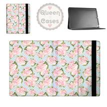 Pink Roses on Blue Polka Dots Tablet Flip Case - $29.99+