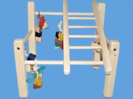 Bird Play Stand,Play Gym For Parakeets,Love Birds, Parrotlets, Tiels-Han... - £15.87 GBP