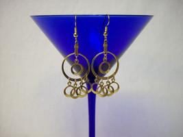 Vintage Unknown Era Gold Hoops Drop/Dangle Earrings - $19.98