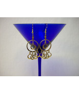 Vintage Unknown Era Gold Hoops Drop/Dangle Earrings - $19.98