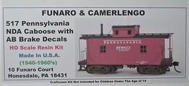 Funaro & Camerlengo HO PRR NDA Caboose w/ AB  Brake kit 517 image 1
