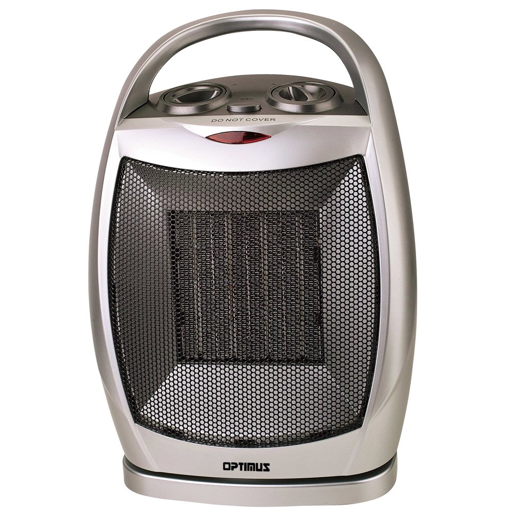 Optimus Portable Oscillating Ceramic Heater with Thermostat
