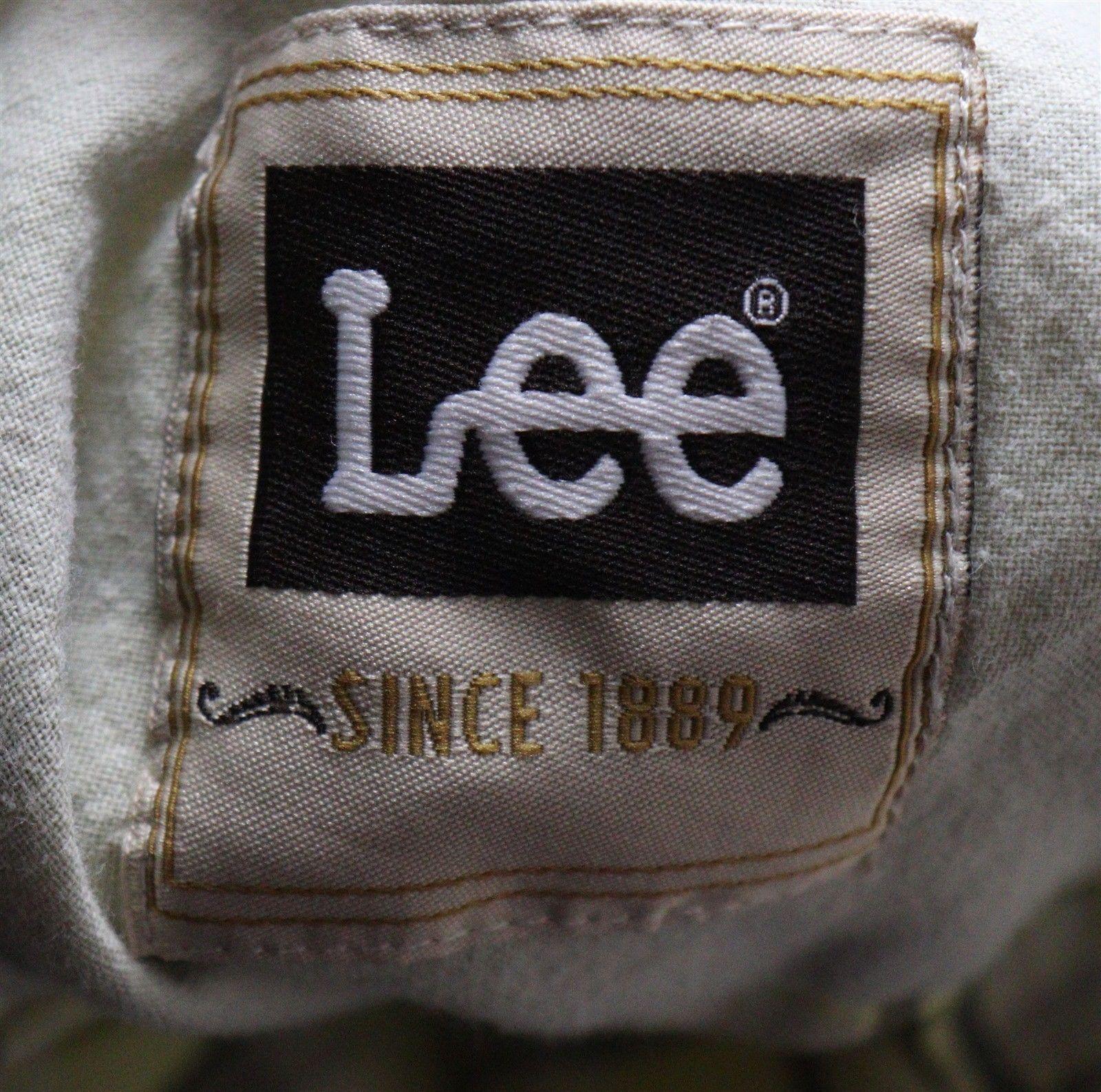 Lee Mens Yellow Plaid Short Sleeve Shirt Size Large