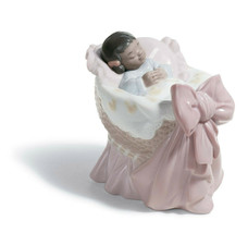Lladro 01008255 A New Treasure (Girl) Black Legacy Porcelain Figurine New  - $158.40