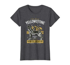 Dad Shirts -  Yellowstone National Park TShirt US Wolf Camping Hiking Wowen - $19.95+