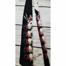 VTG Looney Tunes Mania Bugs Bunny Snowman Silk Tie - $19.80