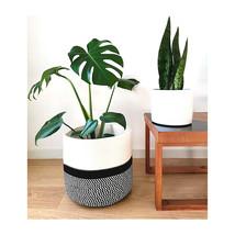 Woven Cotton Rope Basket | Large Plant Basket | Plant Pot Holder | Pot C... - $28.00