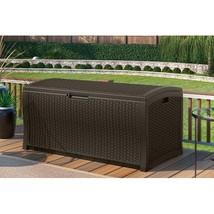 Suncast 122 Gallon Java Resin Wicker Deck Box DBW9935  - $168.05
