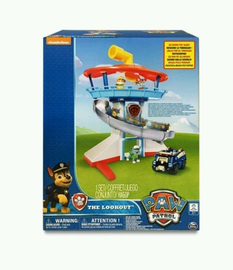 Paw Patrol The Lookout Playset with Chase Elevator Lights Sounds Toy Nick Jr Kid