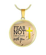 Express Your Love Gifts Fear Not I Am Always with You Stainless Steel-Si... - $59.35
