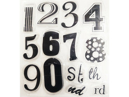Stylized Numbers Clear Stamp Set