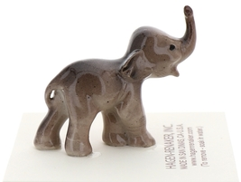 Hagen-Renaker Miniature Ceramic Wildlife Figurine Tiny Indian Elephant Baby image 3