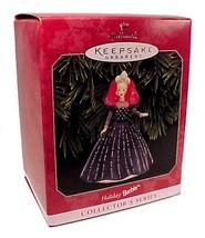 1998 Hallmark Holiday Barbie Doll Christmas Tree Ornament Black Dress Ke... - $19.95