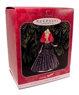 1998 Hallmark Holiday Barbie Doll Christmas Tree Ornament Black Dress Ke... - $19.95