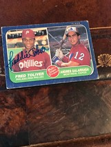 1986 Fleer Baseball #647 Fred Toliver Autographed - $34.30