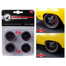 5-Spoke Wheel and Tire Set of 4 from 1970 Plymouth Road Runner Street Fi... - $26.56
