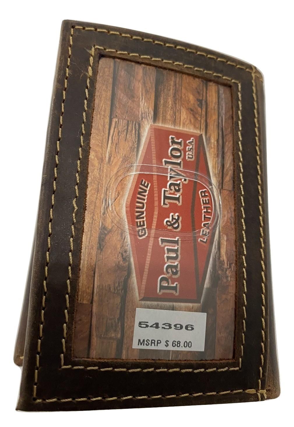 Paul & Taylor Hunter Buffalo Leather Trifold 54396 - $26.95
