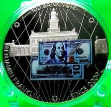 $100 BENJAMIN FRANKLIN BANKNOTE COMMEMORATIVE COIN - $80.96
