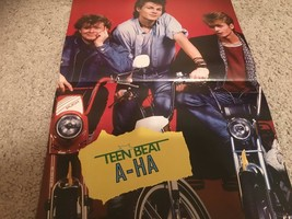 Brian Robbins A-ha teen magazine pinup clipping behind a white sheet Teen Beat
