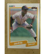 1990 Fleer JOSE URIBI Error SP #74 Giants  - $30.69
