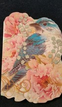 """1-Punch Studio blank Card-bluebird and roses-3.5""""x 5""""-WHITE envelope  - $2.25"""