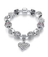 Women Stunning Purple Luxurius Murano Crystal Stone Charm Family Bracele... - $12.99