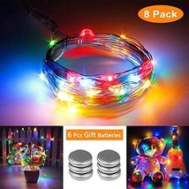 Toodour 8 Pack Fairy String Lights 30 LED 10ft Battery Operated String L... - $18.68