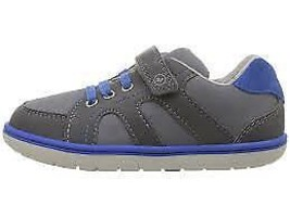 Stride Rite Boys' SRT Noe Sneaker ~ Hook and Loop ~Grey/Blue~infant/Todd... - $35.96