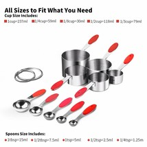 Stainless Steel Measuring Cups and Spoons Set of 1 - $31.18
