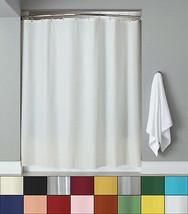 Vinyl Shower Curtain Liner & Chrome Roller Hook Set - Anti Mildew - $12.89