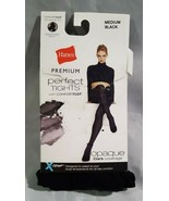 HANES PERFECT TIGHTS WITH COMFORT FLEX SIZE Medium Black - $6.58
