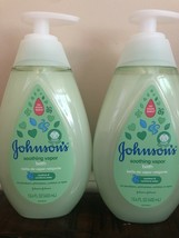 Johnsons Soothing Vapor Bath Lot 2 Bottles Pack 13.6 Oz Each Pump Baby W... - $24.65