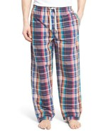 Psycho Bunny Plaid Mens Pants PJs Pyjamas Bottoms Lounge Sz L Cotton New Tags - $35.00